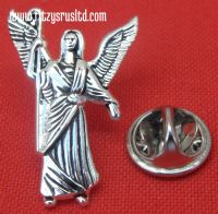 Archangel Rafael Lapel Hat Tie Pin Badge Saint St Raphael Rfl Angel Brooch